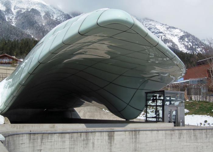 View of Innsbruck funicular Hungerburg Station