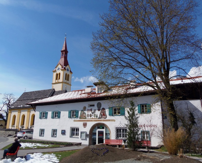 View of the church of Igls