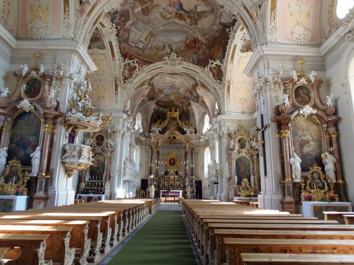 View of the interior of Wilten Basilica
