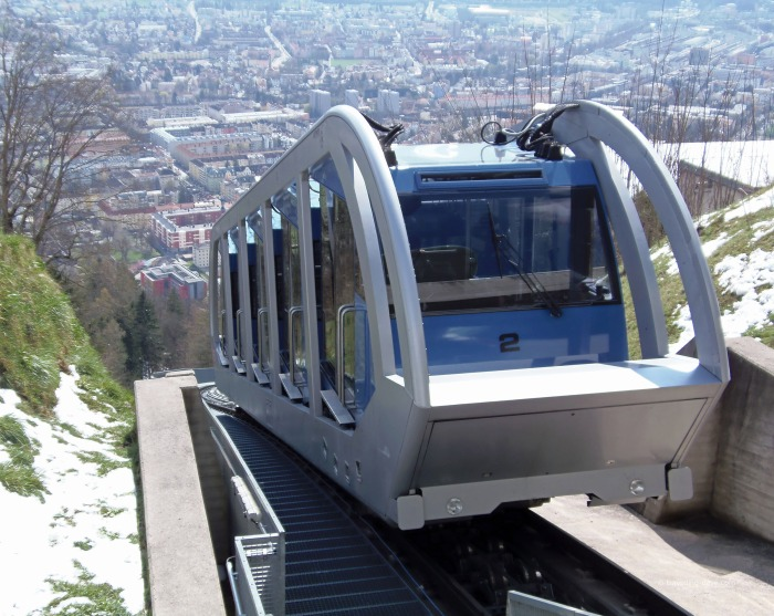 View of the funicular in Innsbruck