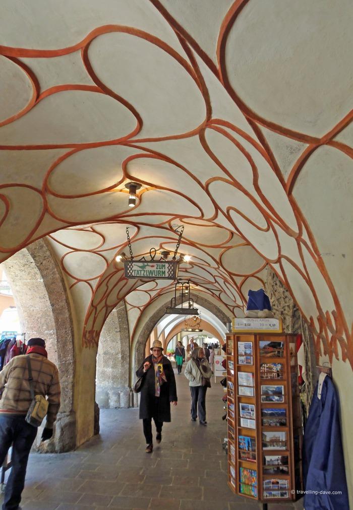 Under the arches in Innsbruck