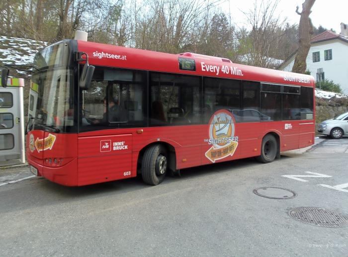 View of the Innsbruck Sightseer