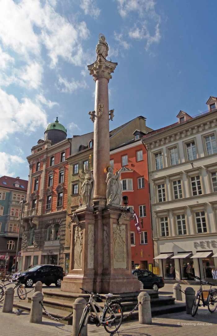 View of Innsbruck St.Anne's Column