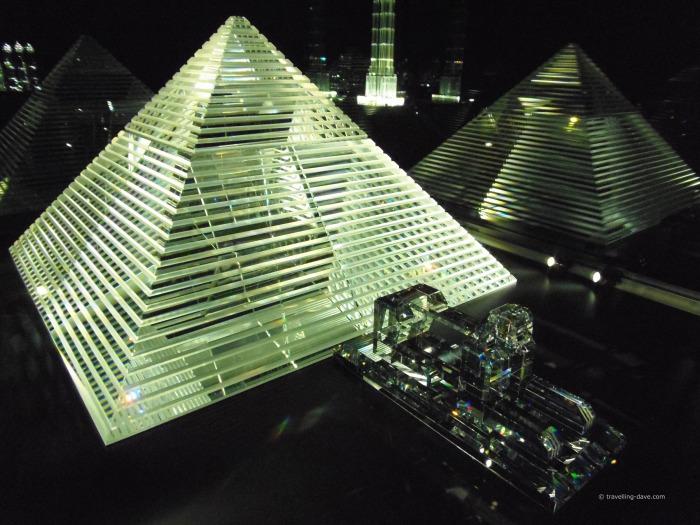 Pyramid made of Swarovski crystals