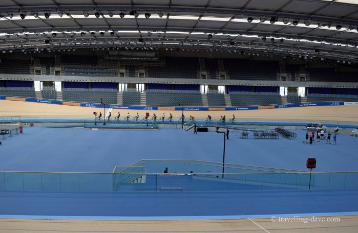 View from inside London's velodrome