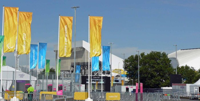 Flags for the 2012 Olympic Games in London