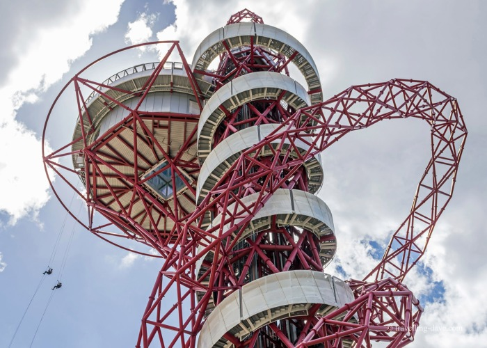 Looking up at the ArcelorMittal Orbit