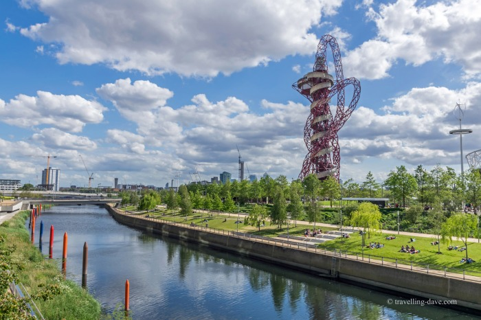 The ArcelorMittal Orbit and river
