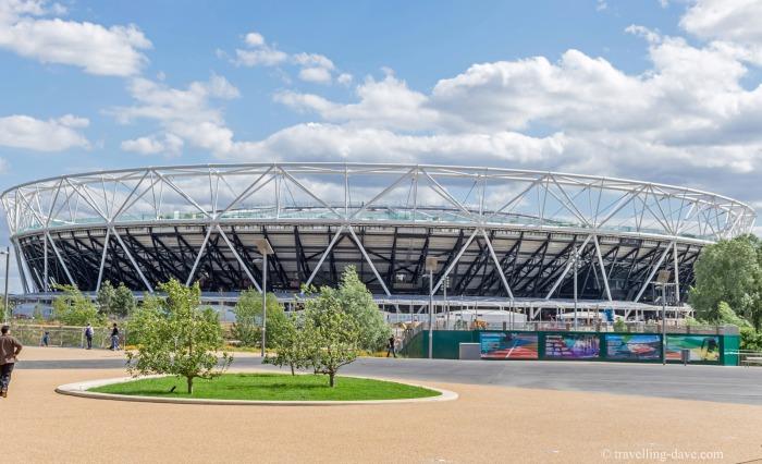 View of London's Olympic Stadium
