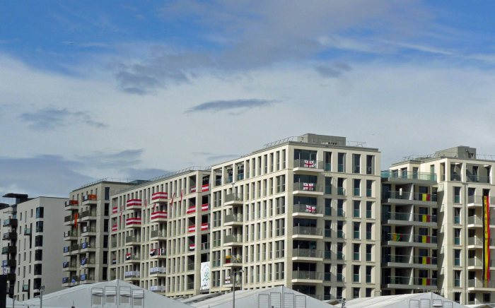 View of buildings of the London 2012 Olympic Village