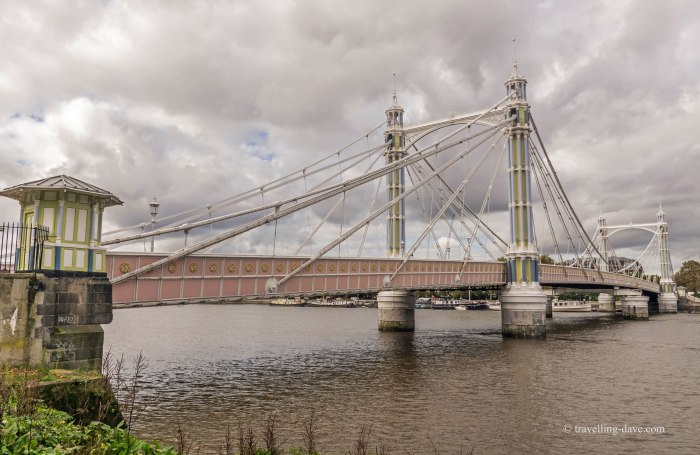 View of London's Albert Bridge