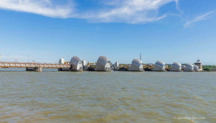 View of London's Thames Barrier