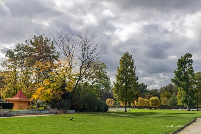 View of Battersea Park in Autumn