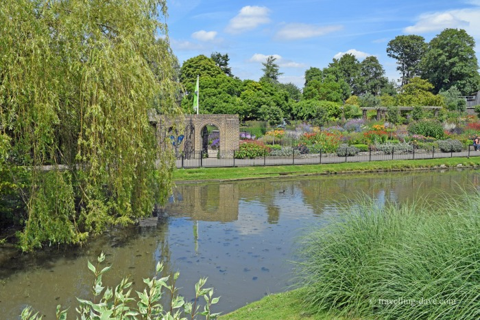 View of Golders Hill Park pond