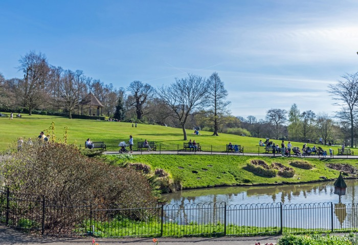View of London's Golders Hill Park