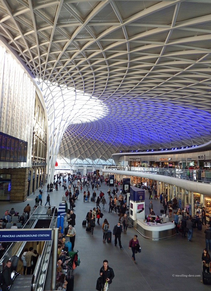 Looking up at King's Cross Station