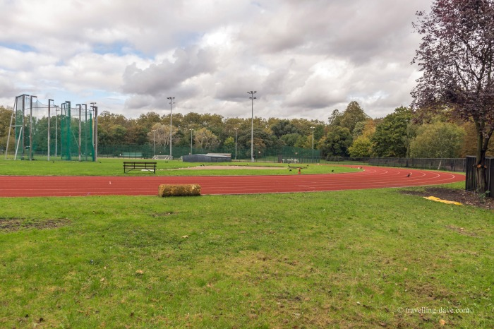 View of the running track at Battersea Park