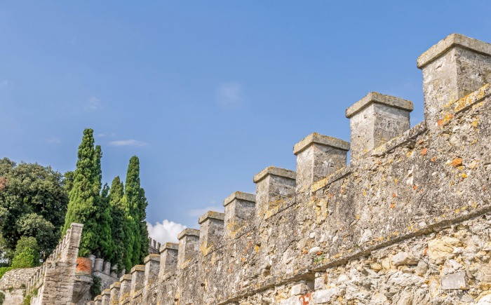 View of Isola del Garda fortification walls
