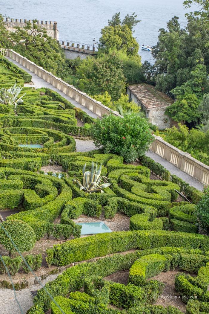 View of Isola del Garda Italian gardens