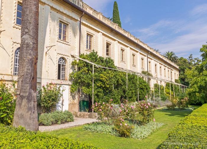View from the gardens of Villa Borghese-Cavazza