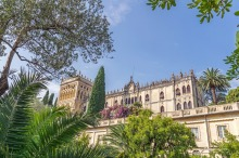 Looking up at Villa Borghese-Cavazza