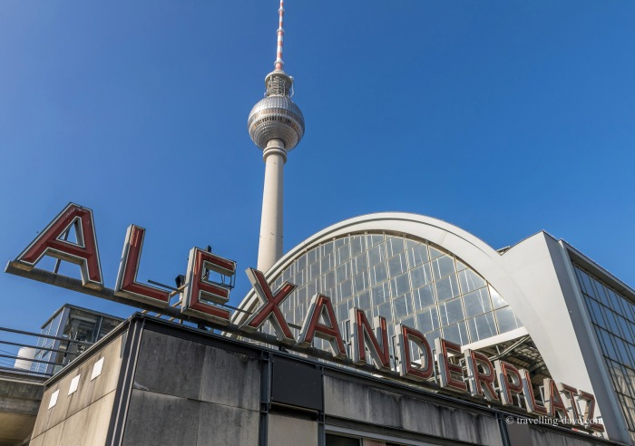 Looking up at Alexanderplatz Station