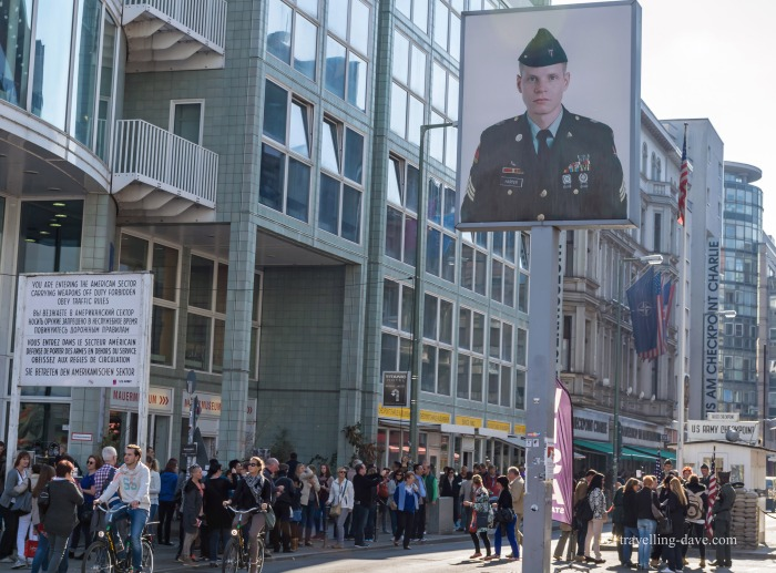 View of Berlin's Checkpoint Charlie