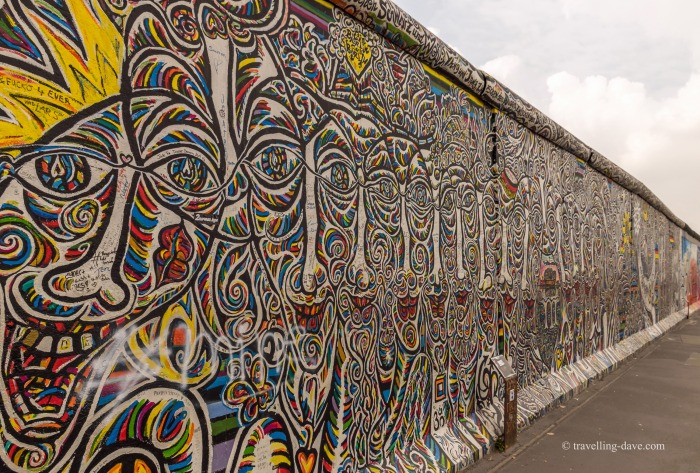 View of a section of the Berlin Wall at East Side Gallery