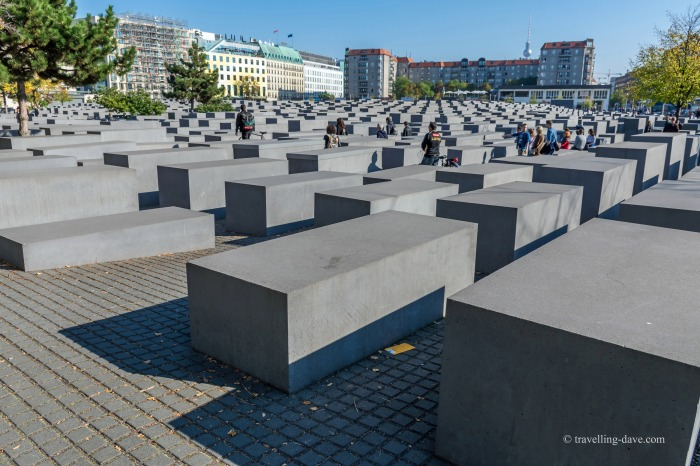 View of Berlin's Holocaust Memorial
