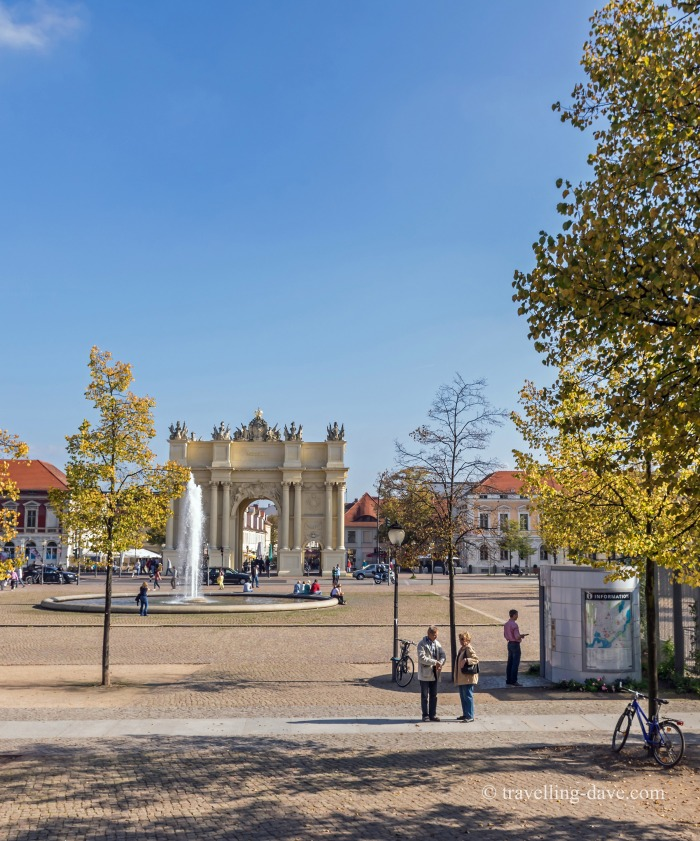 Panoramic view of Potsdam's Luisenplatz