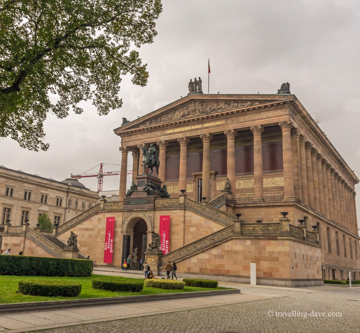 View of the Old National Gallery in Berlin