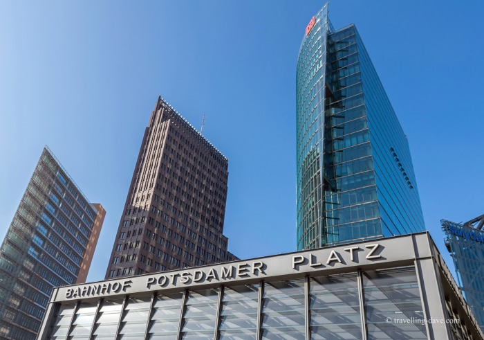 Looking up at Berlin's Potsdamer Platz