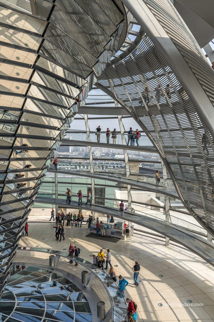 People inside the Reichstag glass dome