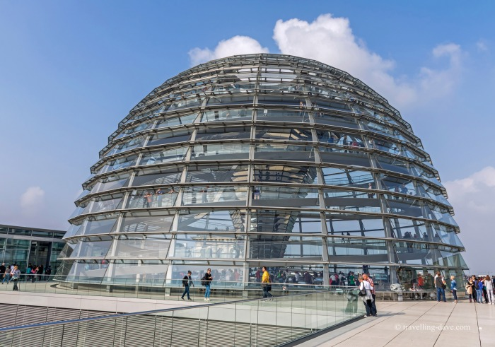 View of the Reichstag glass dome