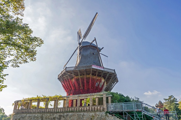 Looking up at the replica of the Historic Mill of Sanssouci