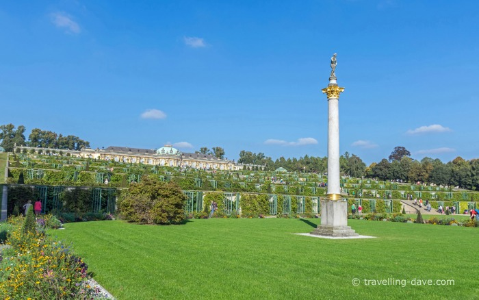 View of Potsdam's Sanssouci Palace Gardens