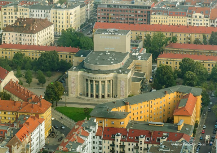 The view from the observation deck of Berlin TV Tower