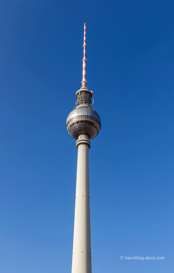 Looking up at Berlin TV Tower