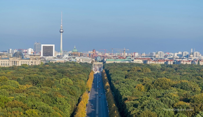 Berlin skyline seen from the top of the Victory Column