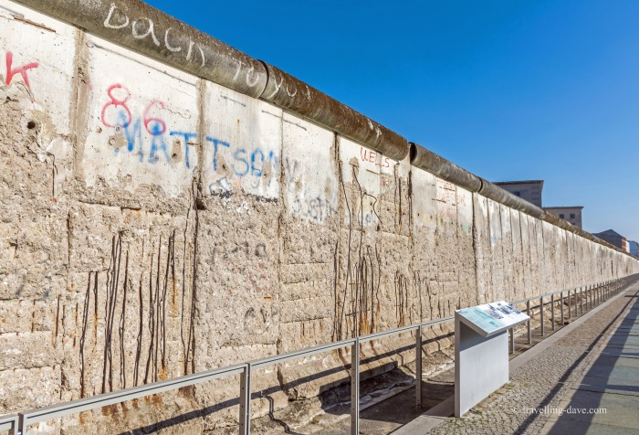 View of a section of the Wall in Berlin