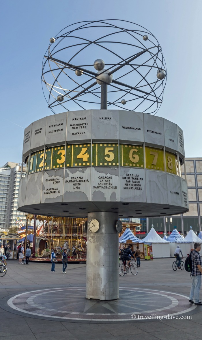 View of Berlin's World Clock