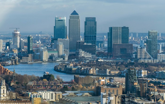 View of Canary Wharf from 20 Fenchurch Street