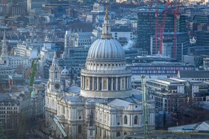 View from 20 Fenchurch Street of St.Paul's Cathedral