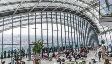 Panoramic view of London's Sky Garden