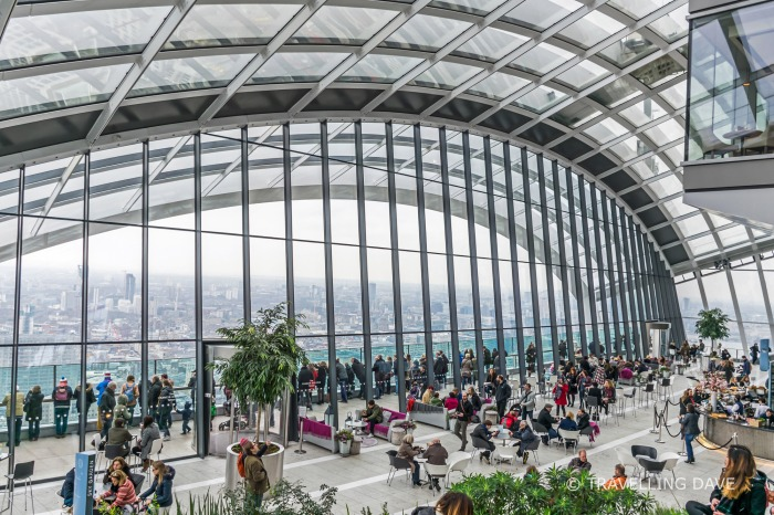 Panoramic view of London's Sky Garden
