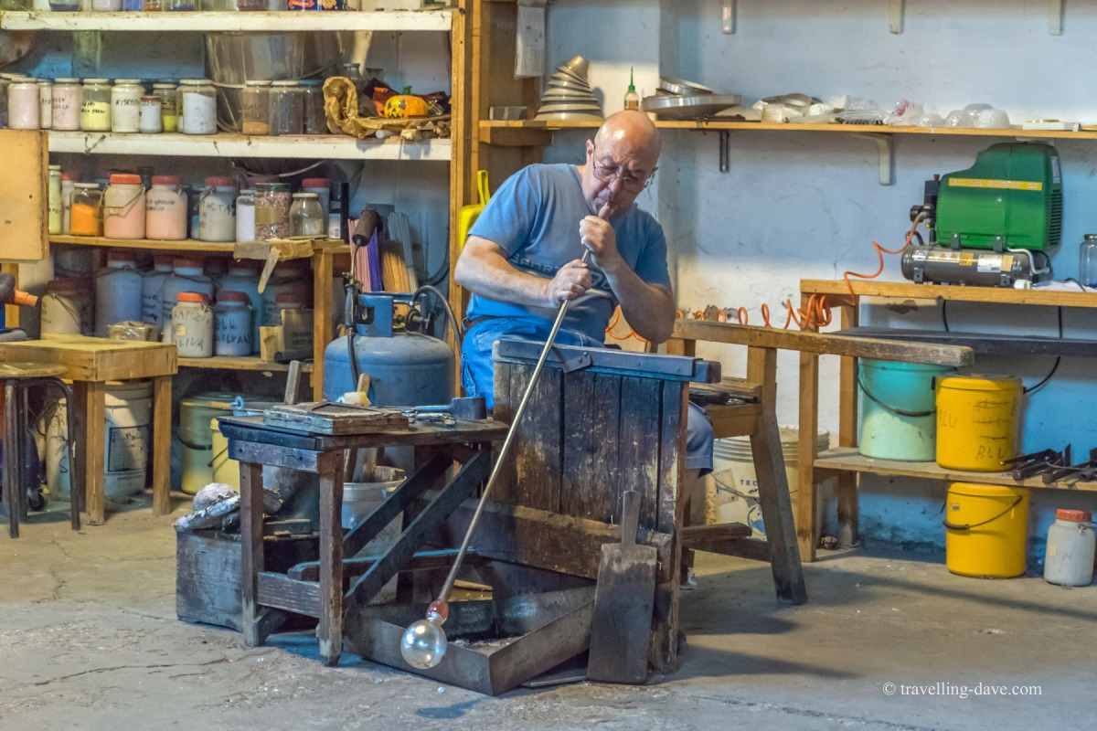One of Murano's famous glassblowers