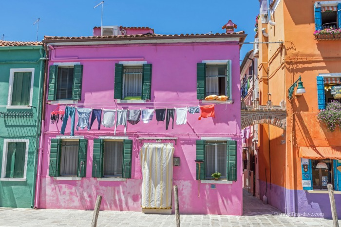 One of Burano's colorful houses