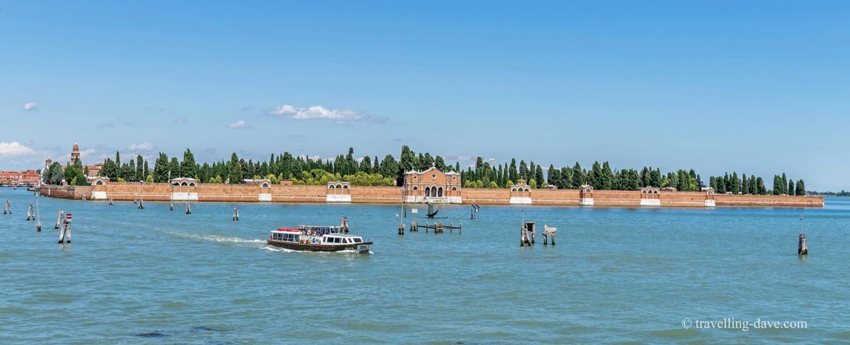 View of Venice's San Michele Island