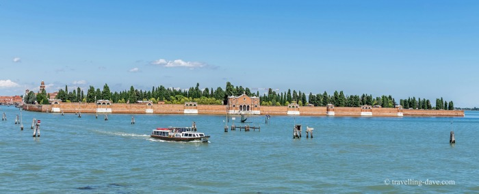 View of Venice's San Michele Island