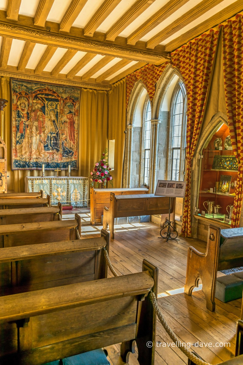 View of Leeds Castle's chapel